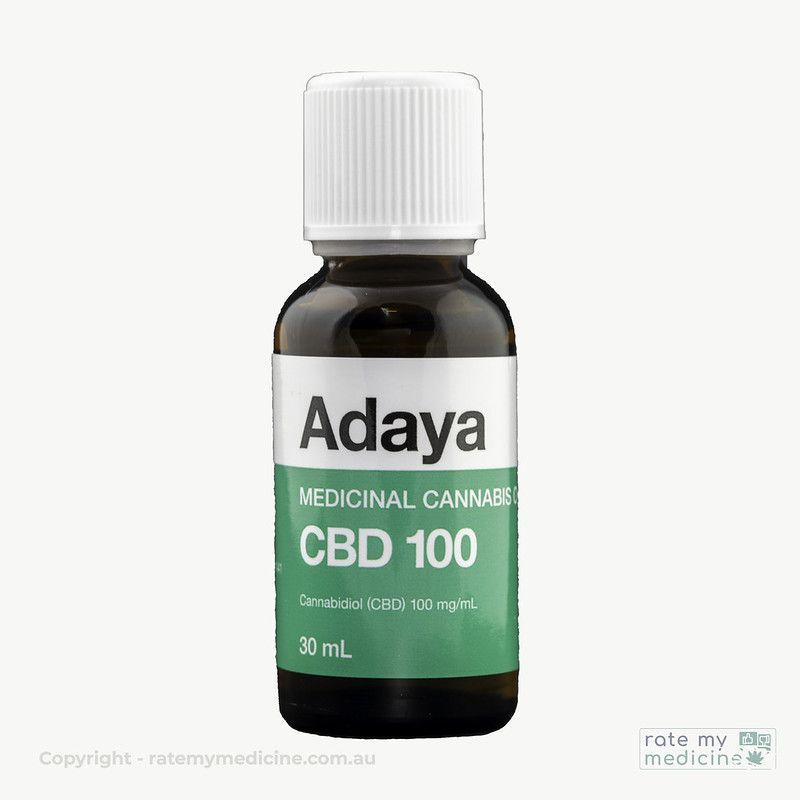 Adaya CBD 100 CBD Oil Medicinal Cannabis Bottle