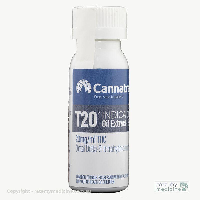Cannatrek T20 Indica Oil Extract bottle
