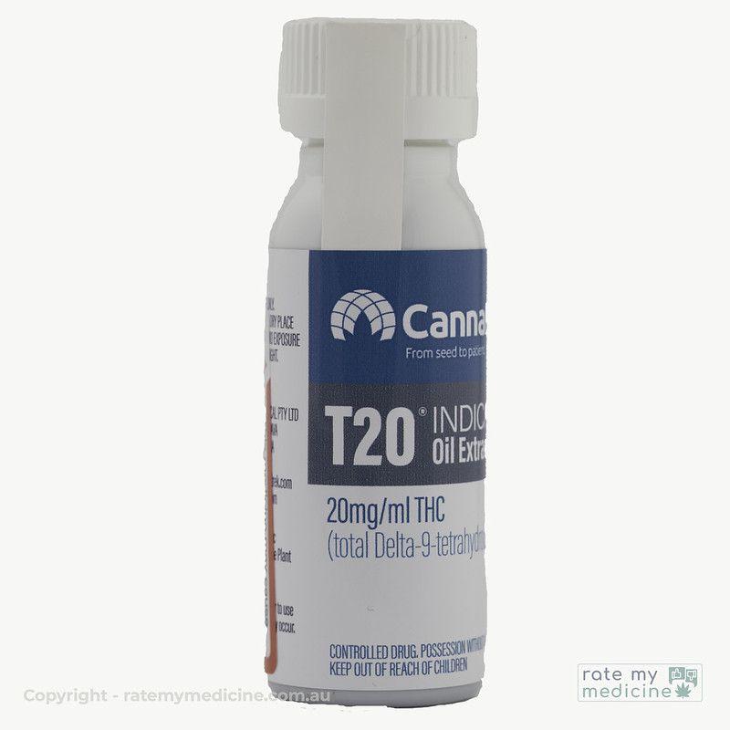 Cannatrek T20 Indica Oil Extract bottle 2