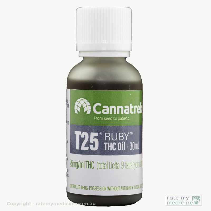 Cannatrek T25 Ruby THC Oil