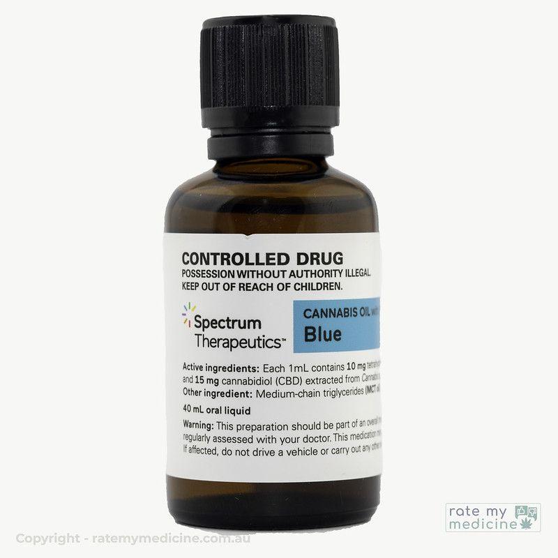 Spectrum Blue Cannabis Oil Bottle front