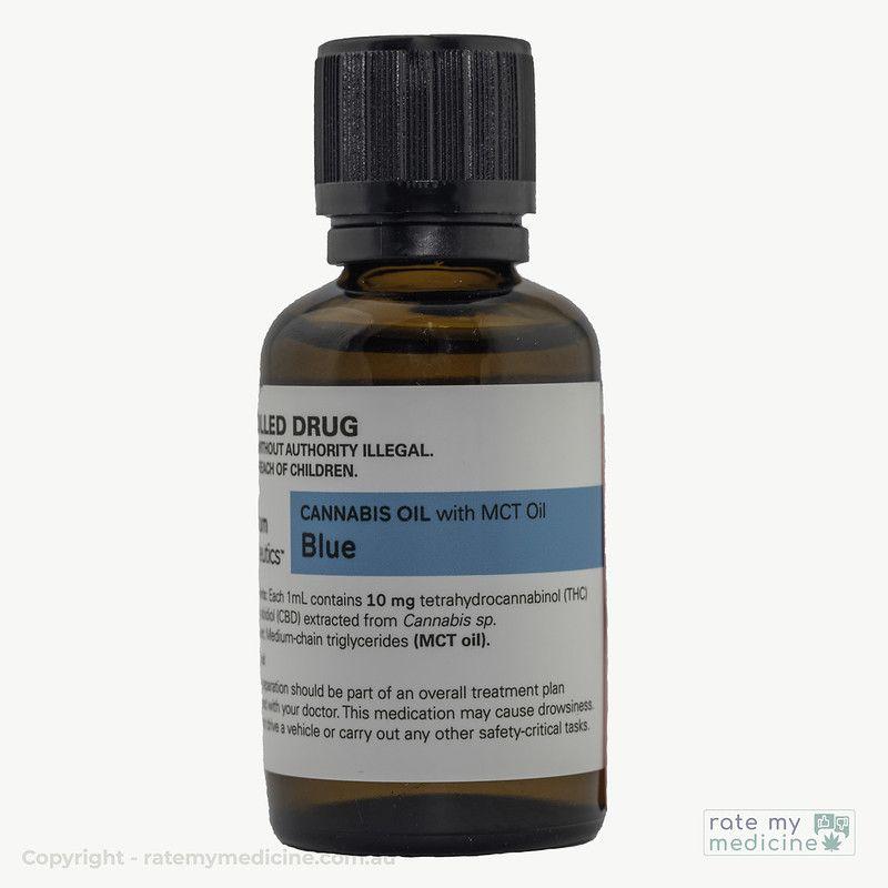 Spectrum Blue Cannabis Oil Bottle