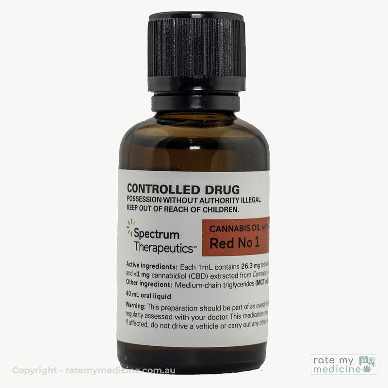 Spectrum Red # 1 Cannabis Oil